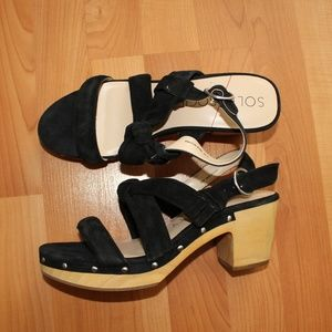 Sole Society Sz 8.5M MARIEL Wooden Platform Sandal